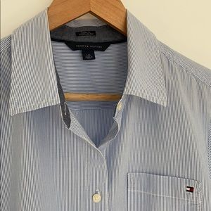Tommy Hilfiger classic pinstripe button-down shirt